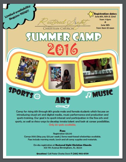 Summer Camp Starts in July!